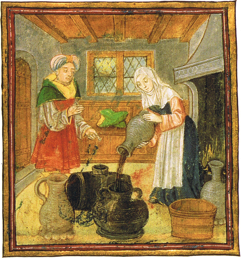 Medieval wine conservation