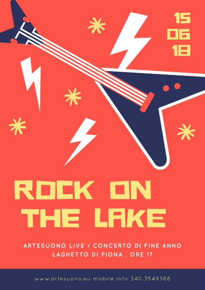 rock on the lake